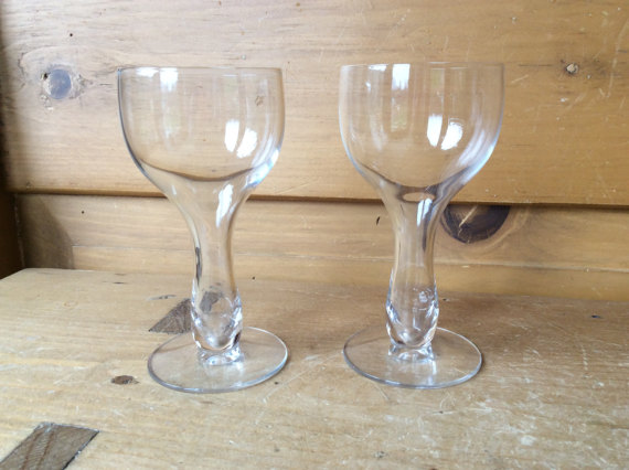 Vintage Hollow Stem Coupe Champagne Glasses