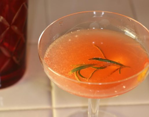 Vegas Showgirl Cocktail using Bootleg Botanicals Gin No.6