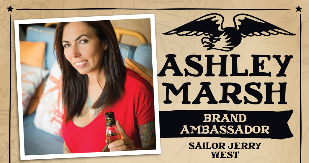 Ashley Marsh, Sailor Jerry Spiced Rum Brand Ambassador