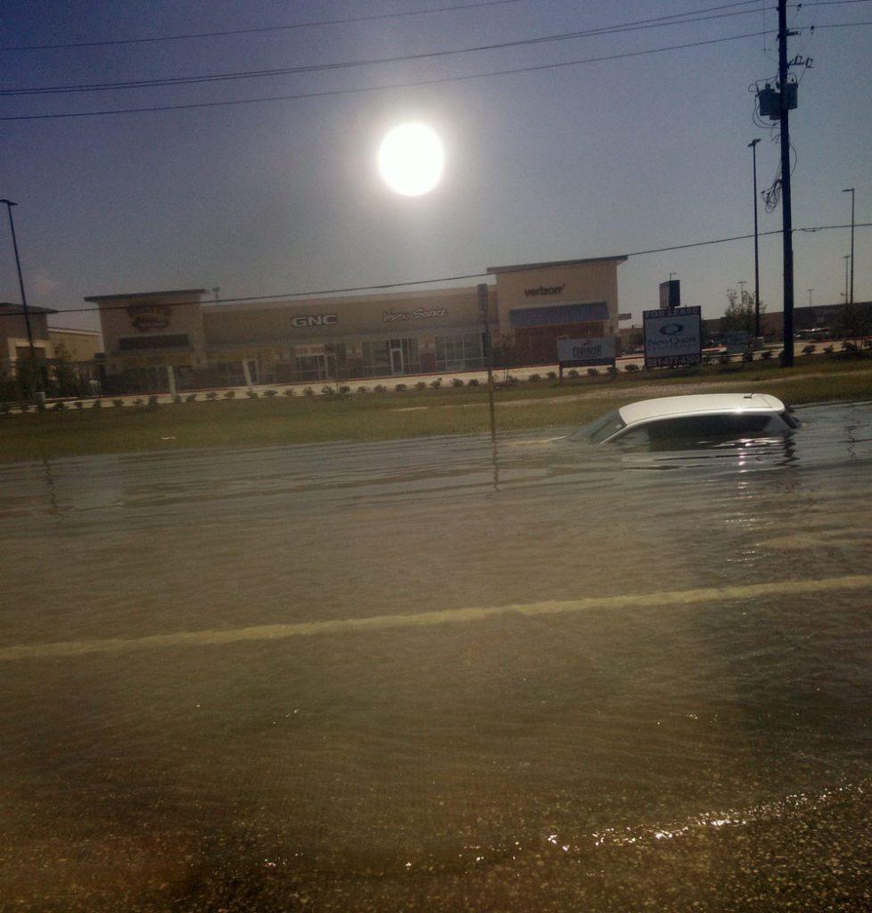 Flooded Texas Street, Hurricane Harvey