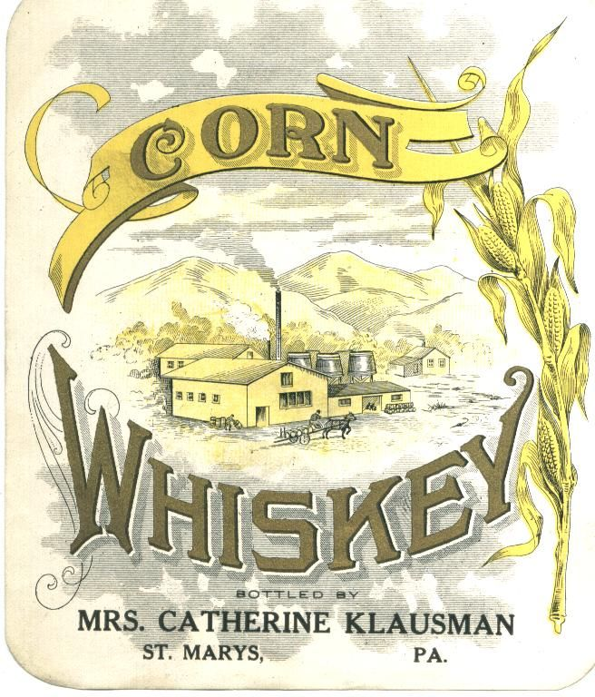 Vintage Corn Whiskey Label