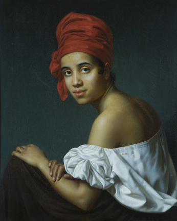 Creole in a red turban